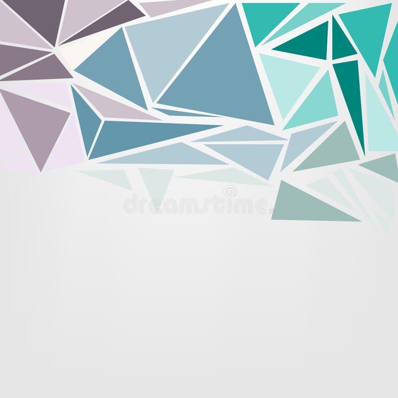 Fundo poligonal abstrato moderno colorido com espaço para o te ilustração do vetor