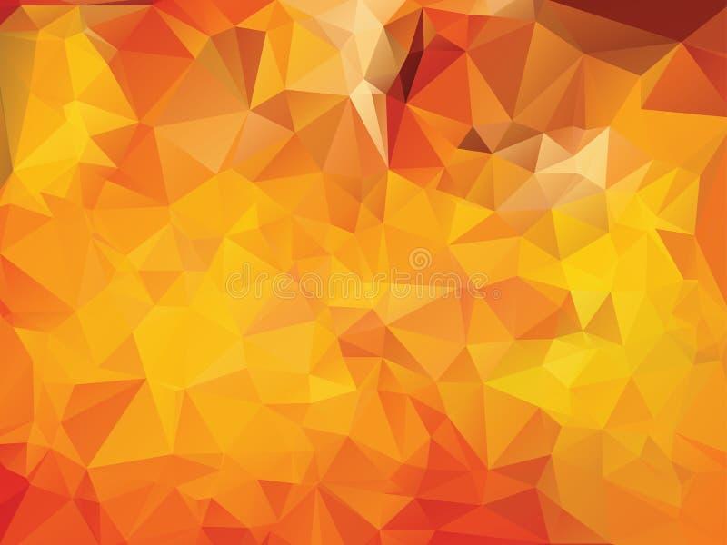 Fundo poligonal amarelo ilustração do vetor