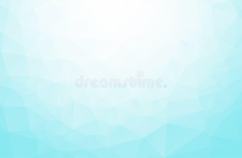 Fundo poligonal azul abstrato do mosaico, moldes criativos do projeto Baixo fundo abstrato do teste padrão do triângulo do polígo ilustração stock