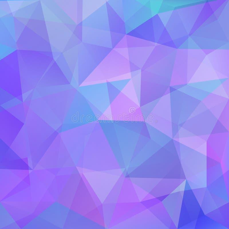 Fundo poligonal brilhante ilustração stock