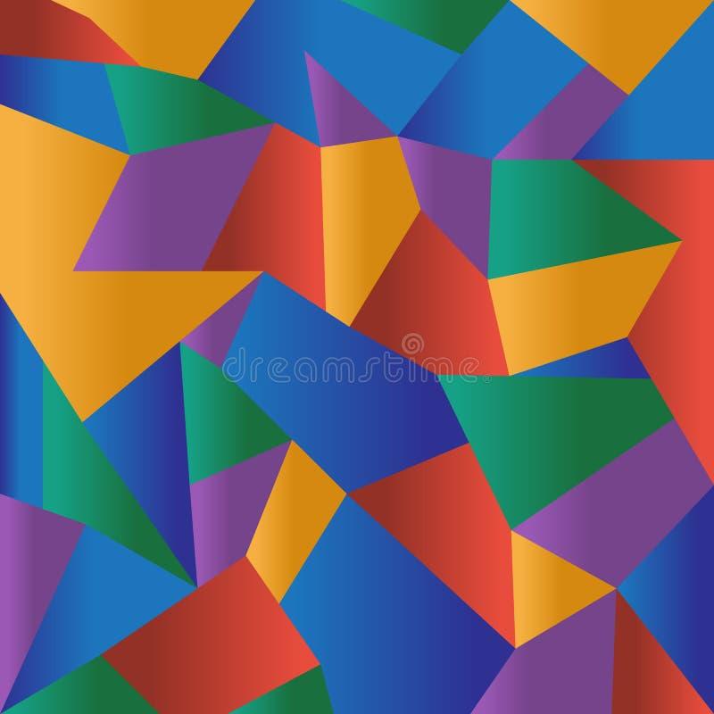 Fundo poligonal colorido abstrato do mosaico ilustração royalty free