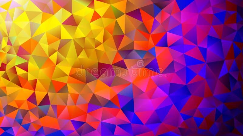 Fundo poligonal cor-de-rosa e azul colorido do sumário do caleidoscópio, tampa, consistindo em uma estrutura dos triângulos Textu imagens de stock royalty free