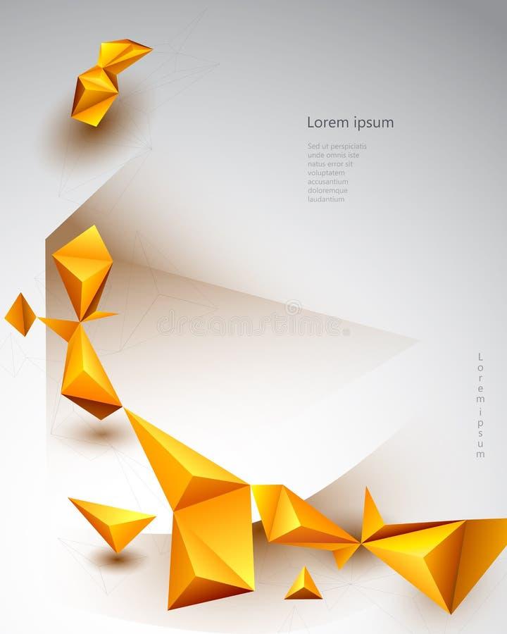 Fundo poligonal da tecnologia da ilustração do vetor para a bandeira, molde, design web ilustração do vetor