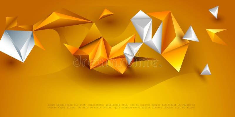 Fundo poligonal da tecnologia da ilustração do vetor para a bandeira, molde, papel de parede, design web ilustração stock