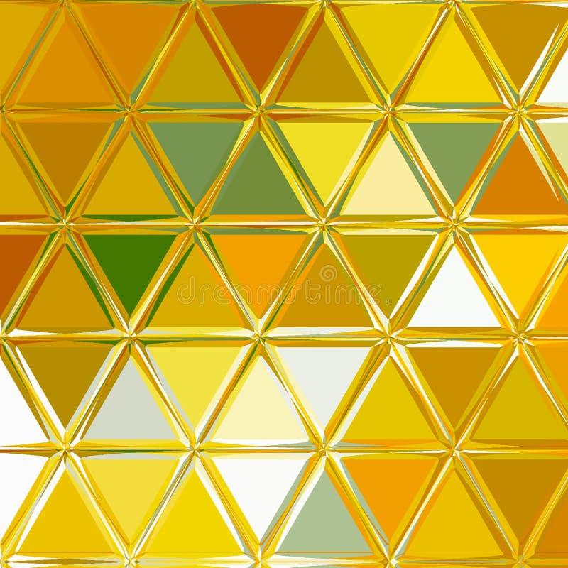 Fundo poligonal da textura do triângulo para o fundo do cartão, do papel de parede e da tela de cores ensolaradas da mola ilustração royalty free