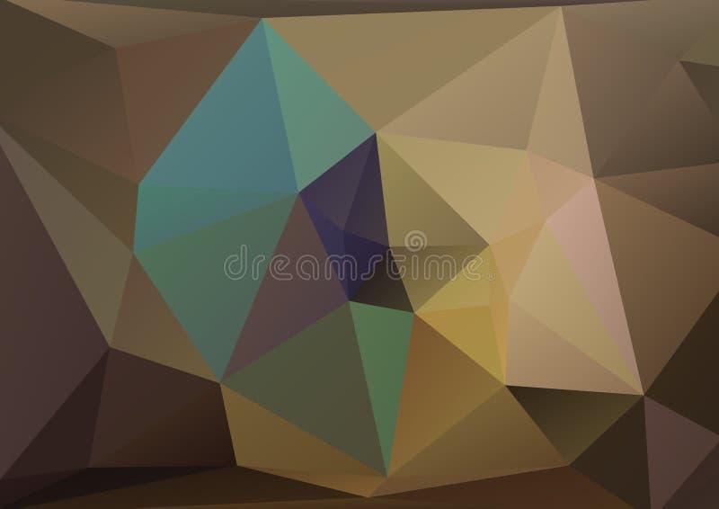 Fundo poligonal de Brown ilustração stock
