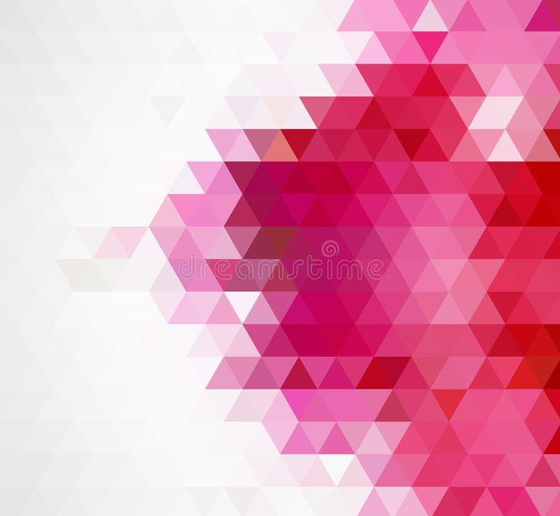 Fundo poligonal do mosaico do rosa do sumário Ilustração do vetor Baixo fundo poli multicolorido do inclinação ilustração do vetor