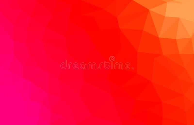 Fundo poligonal do sumário do vermelho e do rosa ilustração do vetor