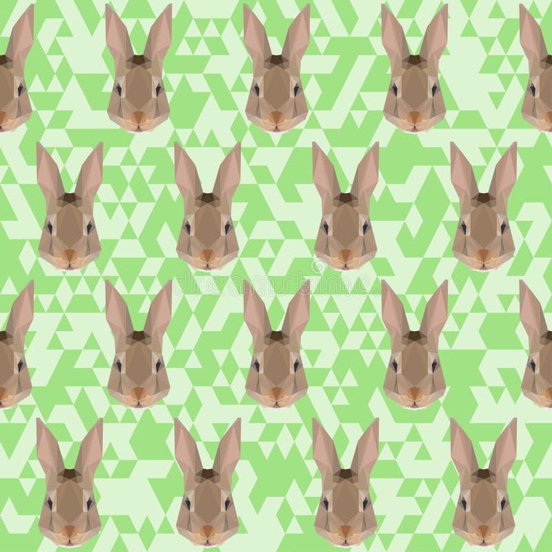 Fundo poligonal do teste padrão do coelho ilustração do vetor