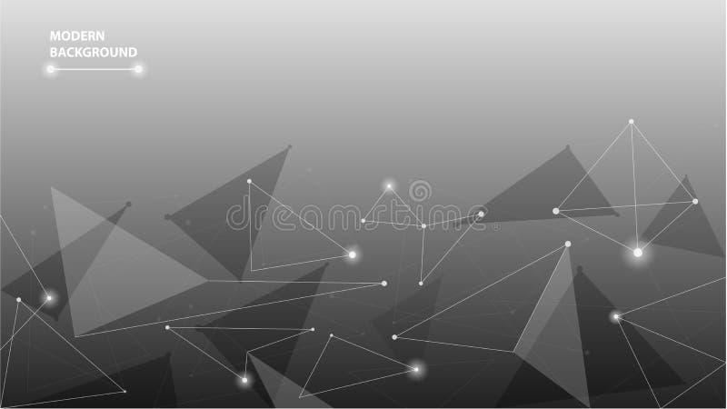 Fundo poligonal futurista geométrico abstrato ilustração stock