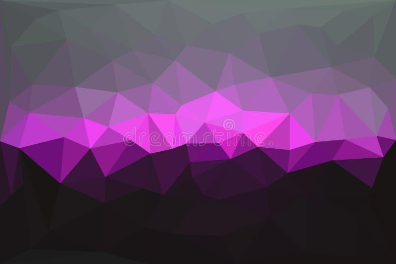 Fundo poligonal geométrico abstrato ilustração royalty free