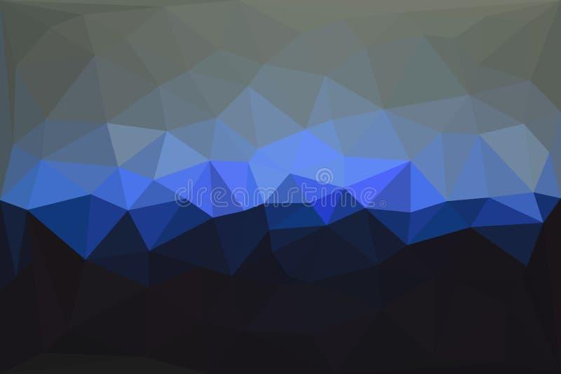 Fundo poligonal geométrico abstrato ilustração do vetor