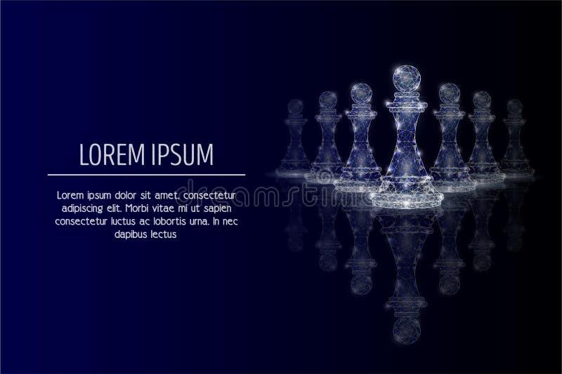 Fundo poligonal geométrico da arte do vetor do conceito da liderança ilustração stock
