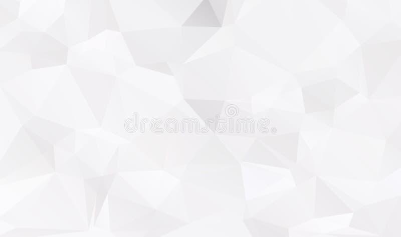 Fundo poligonal geométrico do sumário - baixo patt poli do triângulo ilustração stock
