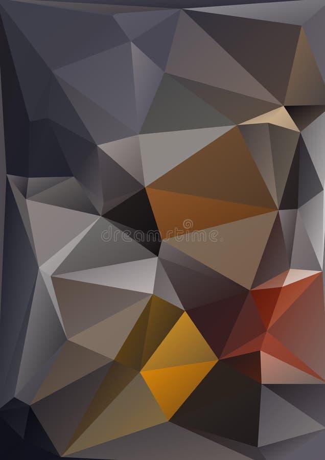 Fundo poligonal preto ilustração stock