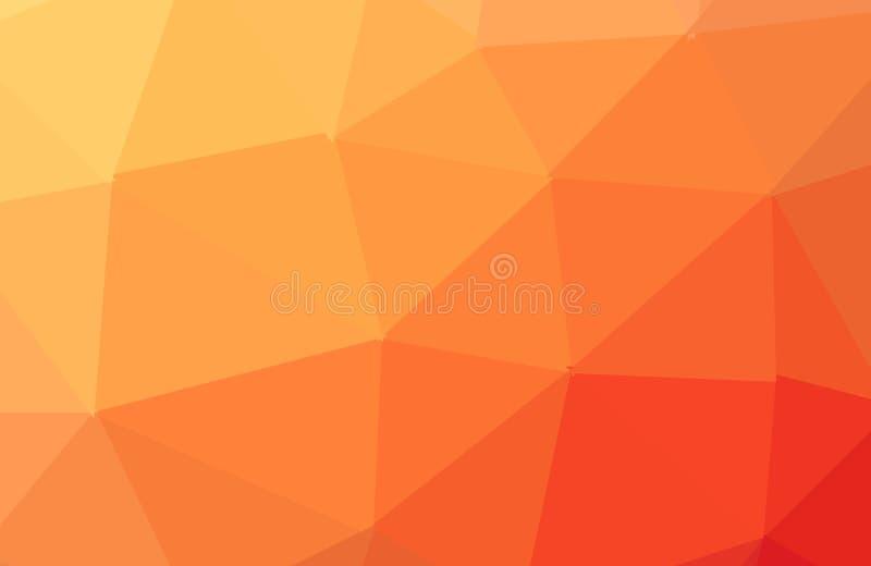 Fundo poligonal textured do sumário alaranjado do vetor Projeto obscuro do tri?ngulo O teste padr?o pode ser usado para o fundo ilustração do vetor