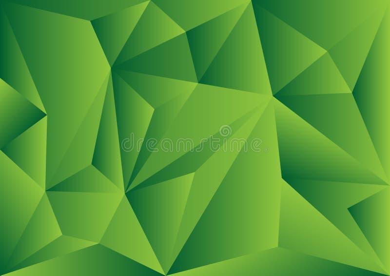 Fundo poligonal verde, ilustração do vetor, textur abstrato ilustração royalty free