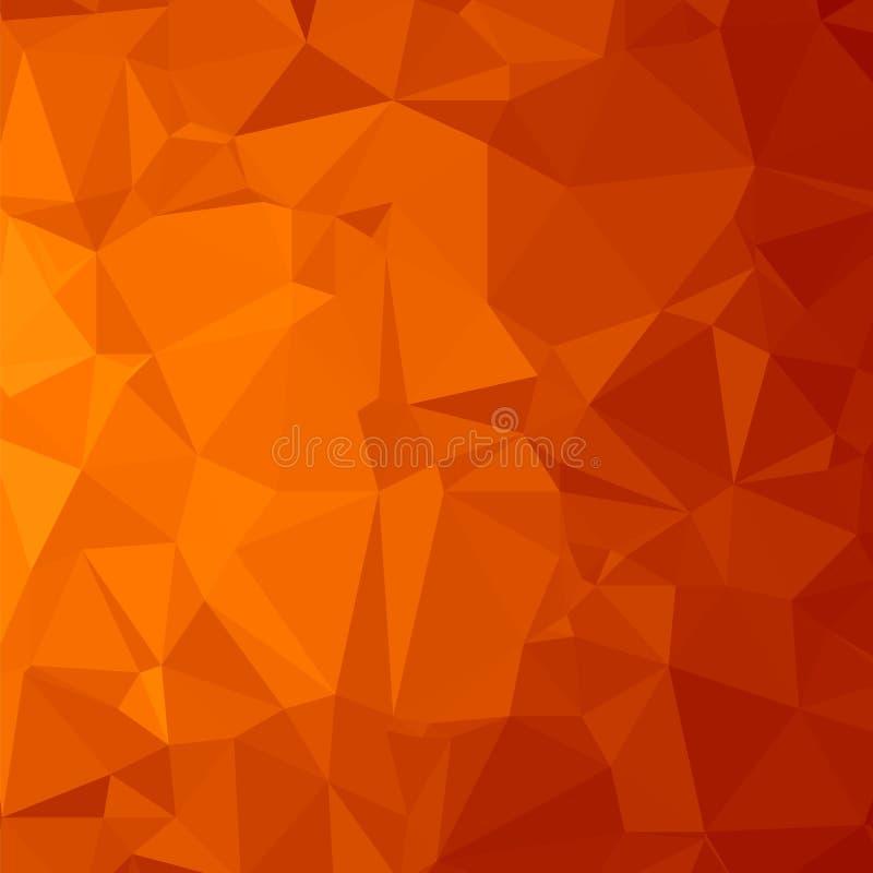 Fundo poligonal vermelho Teste padrão triangular Baixa textura poli Projeto moderno do mosaico abstrato Estilo do origâmi ilustração royalty free
