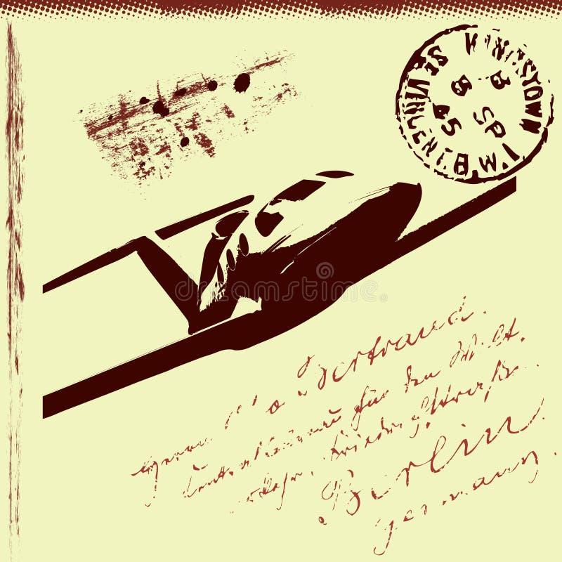 Fundo postal abstrato ilustração royalty free