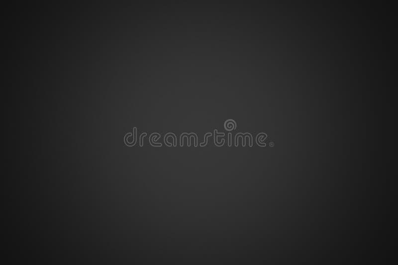 Fundo preto abstrato com vinheta, ilustração 3d vazio ilustração stock