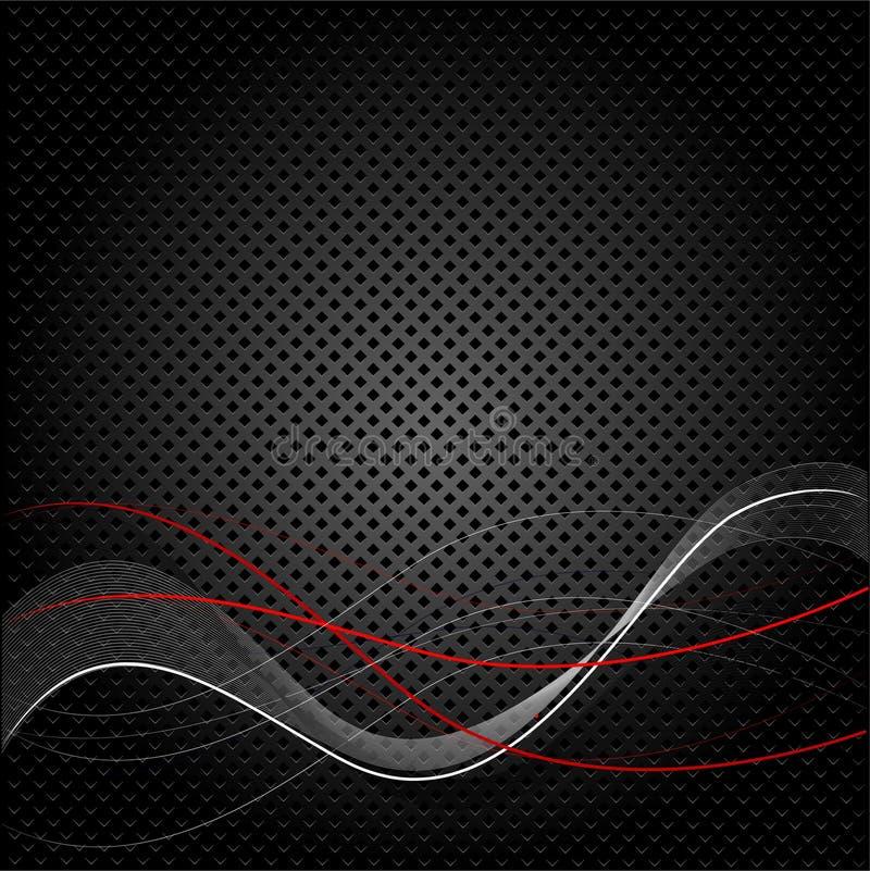 Fundo preto abstrato da textura ilustração stock