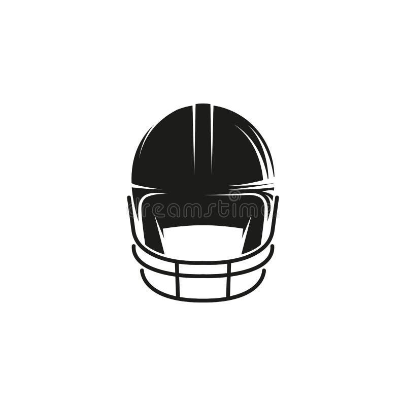 Fundo preto abstrato isolado do branco do logotipo o do capacete do basebol da cor Logotype do equipamento de esporte profissiona ilustração royalty free