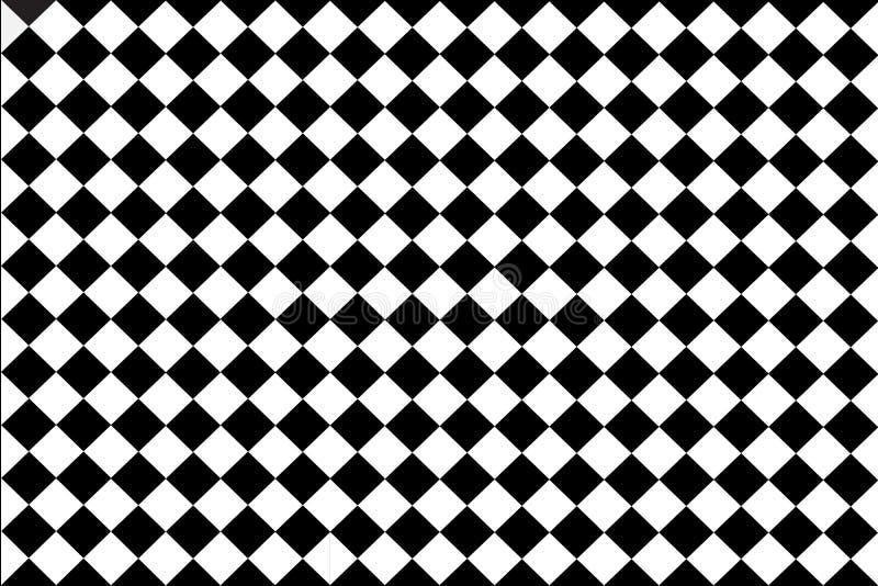 Fundo preto, branco verificado ilustração royalty free