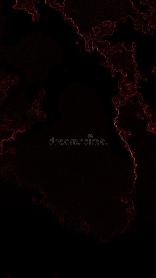 Fundo preto com um teste padrão de cores vermelhas e amarelas imagens de stock royalty free