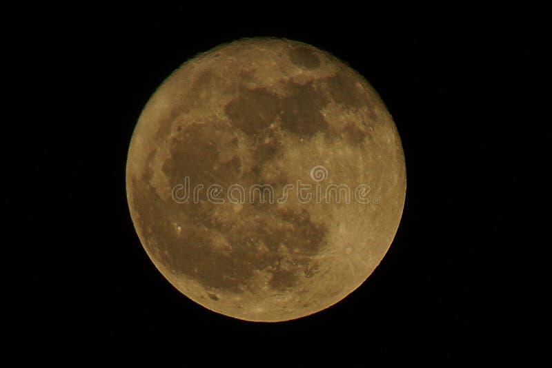 Fundo preto da Lua cheia imagens de stock royalty free