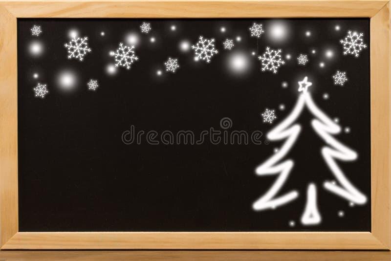 Fundo preto da placa para decorações do Natal ilustração stock