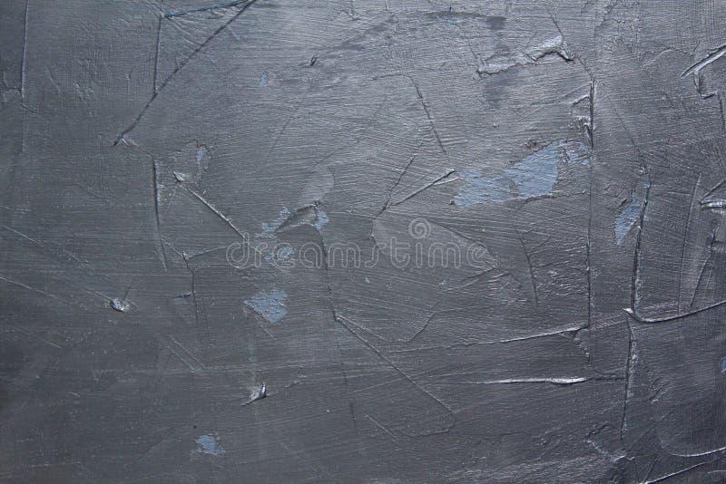 Fundo preto da textura do estuque da parede Pintura decorativa da parede imagens de stock