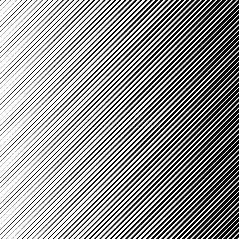 Fundo preto de intervalo mínimo abstrato do vetor Linha retro projeto do inclinação do teste padrão Gráfico monocromático ilustração do vetor