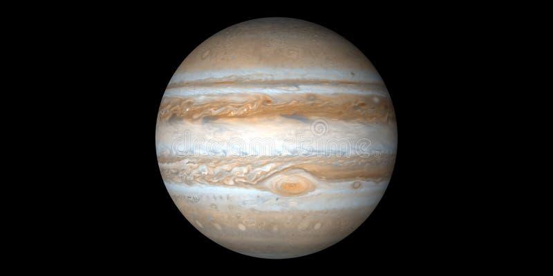 Fundo preto do gigante de gás do planeta do Júpiter ilustração royalty free