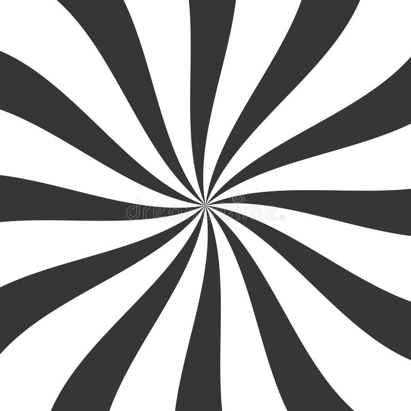 Fundo preto dos doces de Lollypop com roda, giro, rodopiando listras Vetor ilustração stock