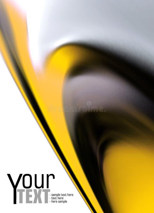 Fundo preto e amarelo ilustração stock