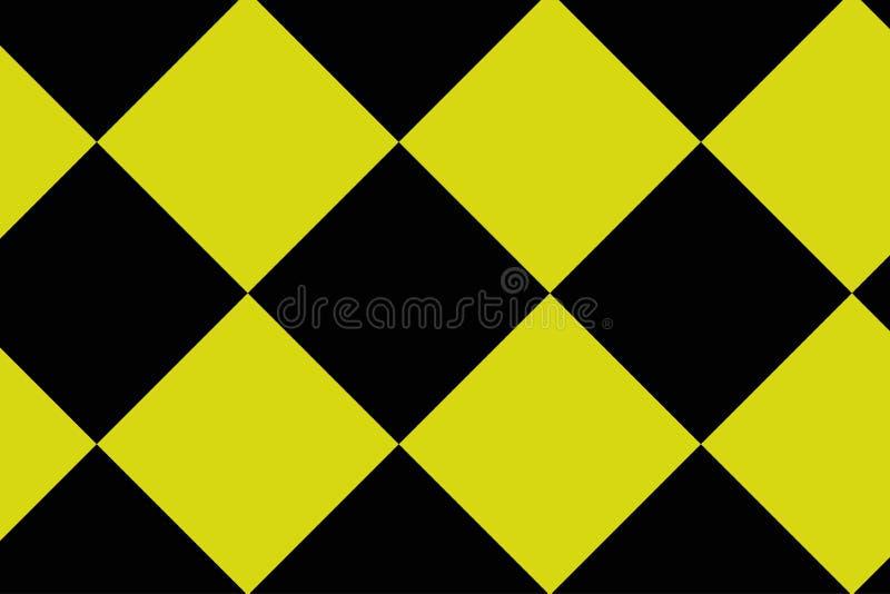 Fundo preto e amarelo do tabuleiro de damas - ilustration do vetor - EPS 10 ilustração do vetor