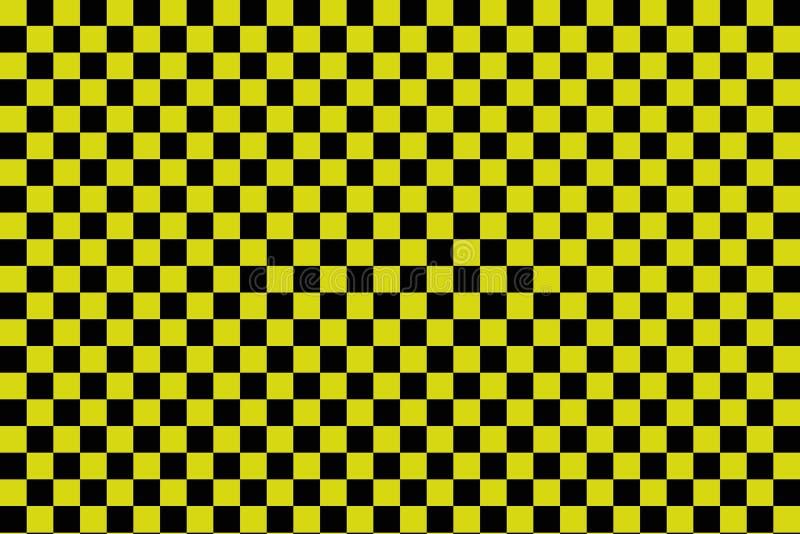 Fundo preto e amarelo do tabuleiro de damas - ilustration do vetor - EPS 10 ilustração royalty free