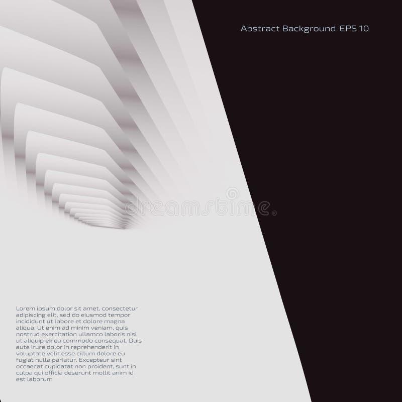 Fundo preto e branco abstrato para anunciar ilustração stock