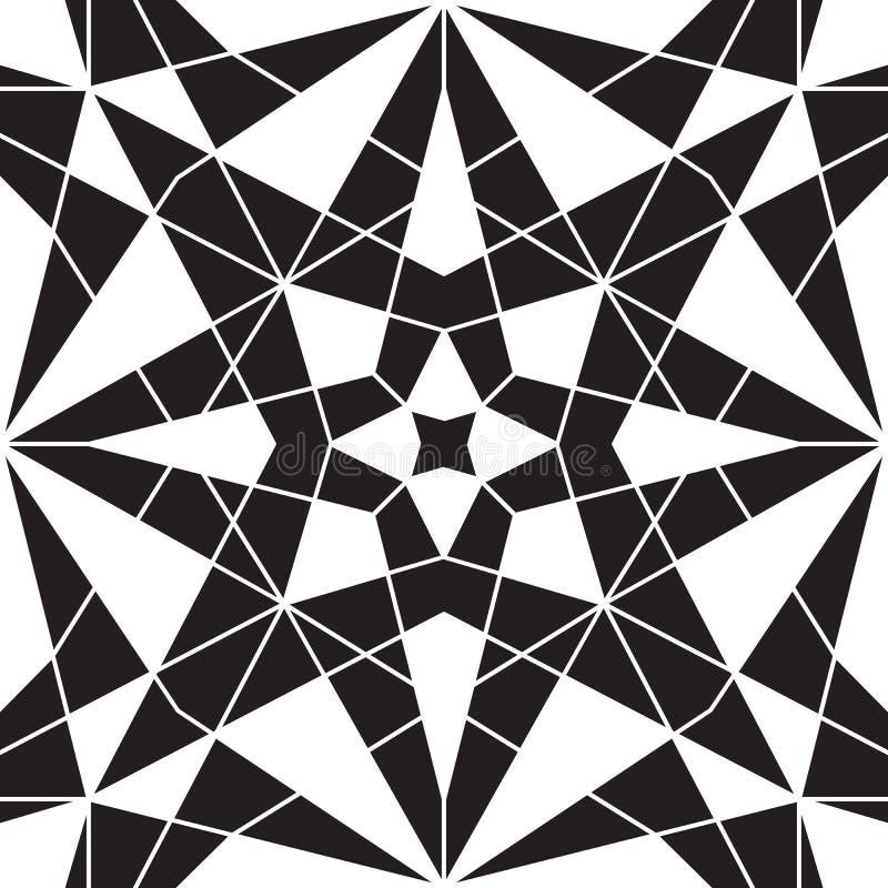 Teste padrão preto e branco ilustração do vetor
