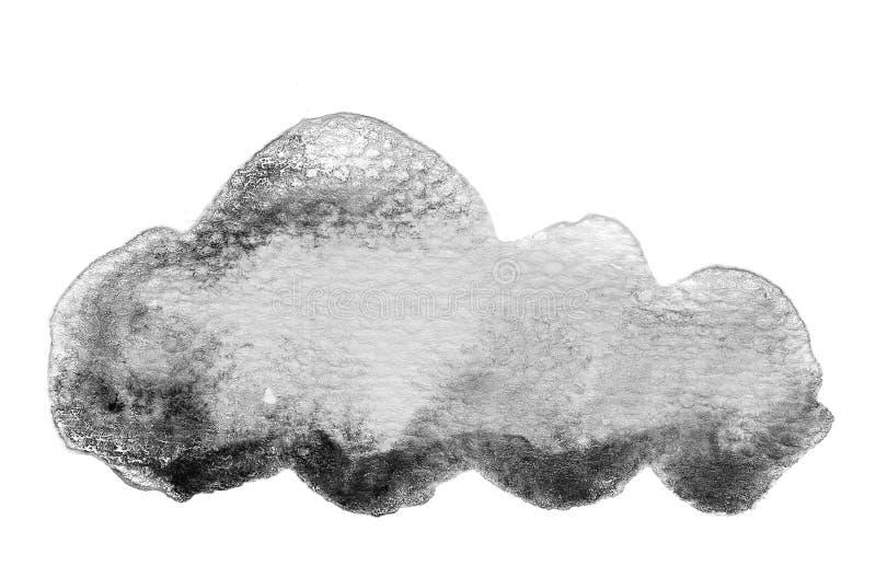 Fundo preto e branco da cor de água ilustração royalty free