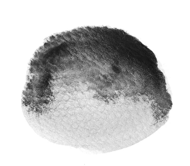 Fundo preto e branco da cor de água ilustração stock