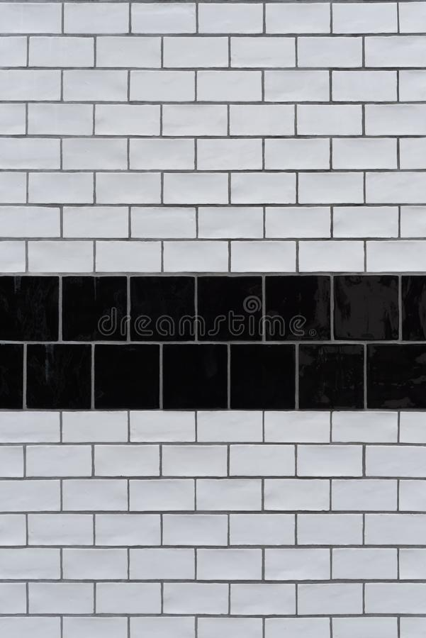 Fundo preto e branco da textura do tijolo foto de stock royalty free