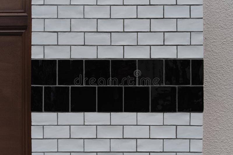 Fundo preto e branco da textura do tijolo imagem de stock