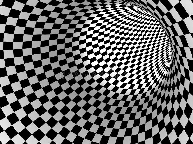 Fundo preto e branco da textura do verificador ilustração stock