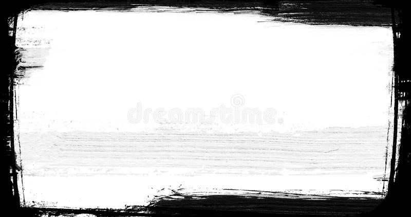 Fundo preto e branco da transição do curso abstrato da escova de pintura, ilustração do respingo da pintura ilustração do vetor