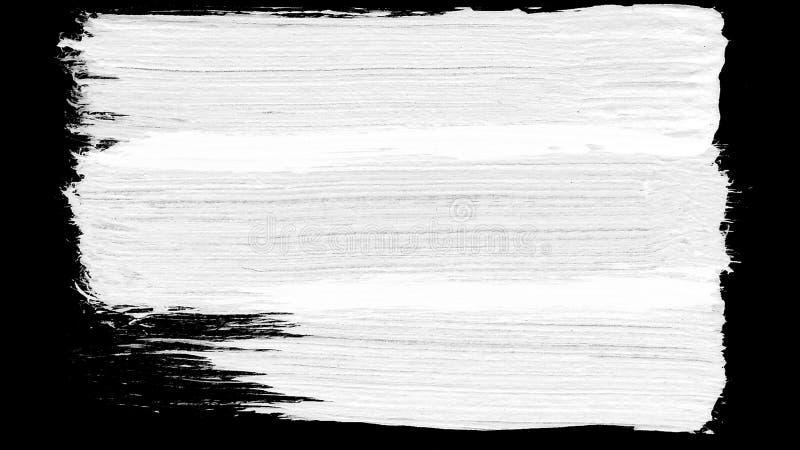 Fundo preto e branco da transição do curso da escova Animação do respingo da pintura Fundo abstrato para o anúncio e fotografia de stock royalty free