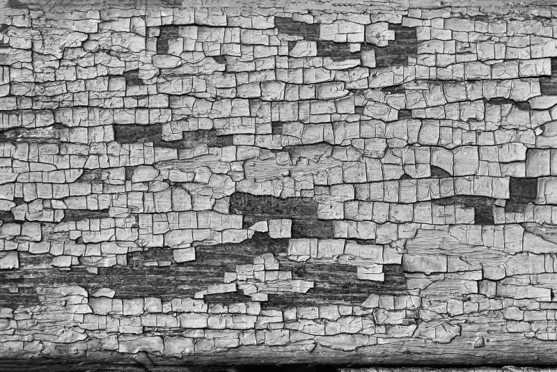 Fundo preto e branco, de madeira das pranchas com pintura marrom velha fotografia de stock royalty free