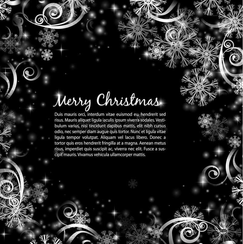 Fundo preto e branco do Natal elegante ilustração do vetor