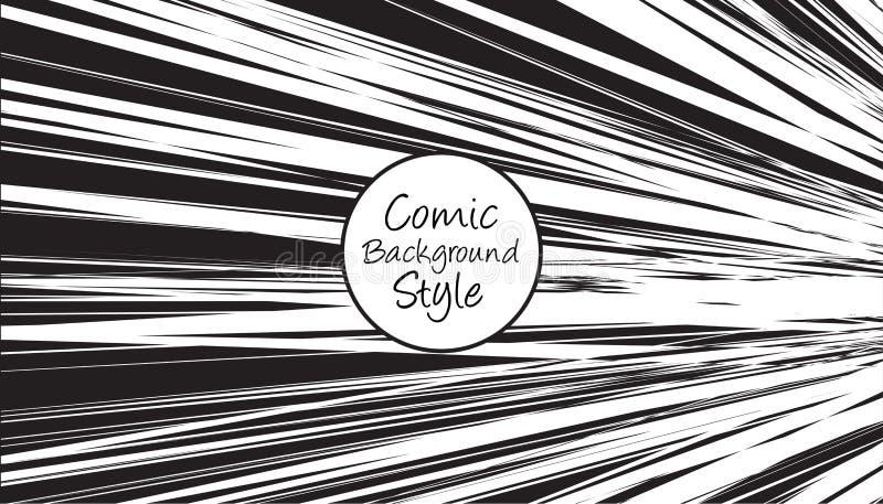 Fundo preto e branco do pop art com estilo cômico ilustração do vetor