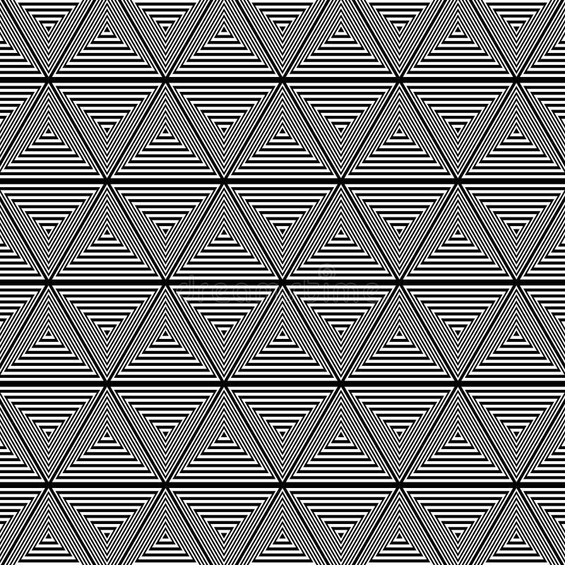 Fundo preto e branco do teste padrão do triângulo ilustração royalty free